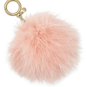 NWT! Michael Kors Round Feather Pompom Charm Ring